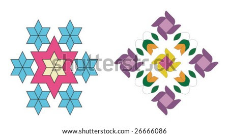 Vector Design Pattern For Embroidery, Linens, Vases, Pillow Covers