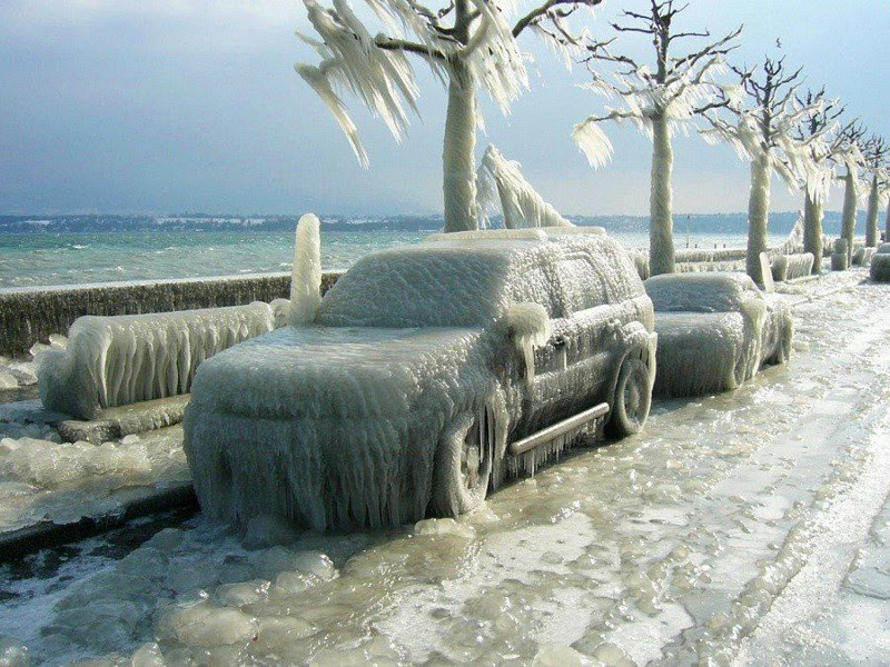 10. The consequences of the ice storm, Switzerland, 2012.  unusual, amazing photos,