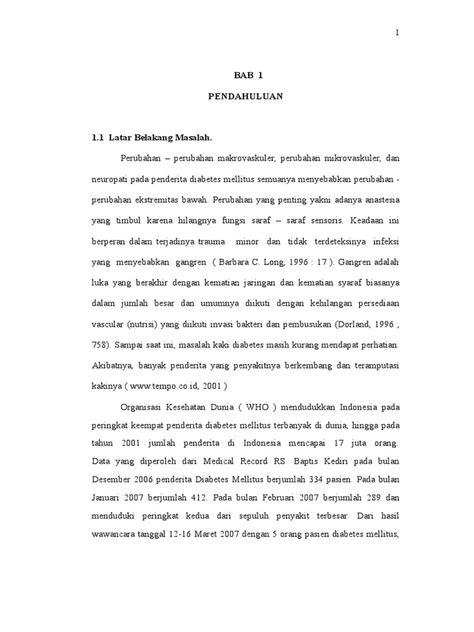 Proposal KTI DIABETES MELITUS