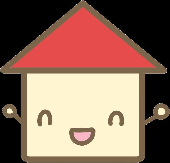 かわいい家赤のイラスト かわいいフリー素材が無料のイラストレイン