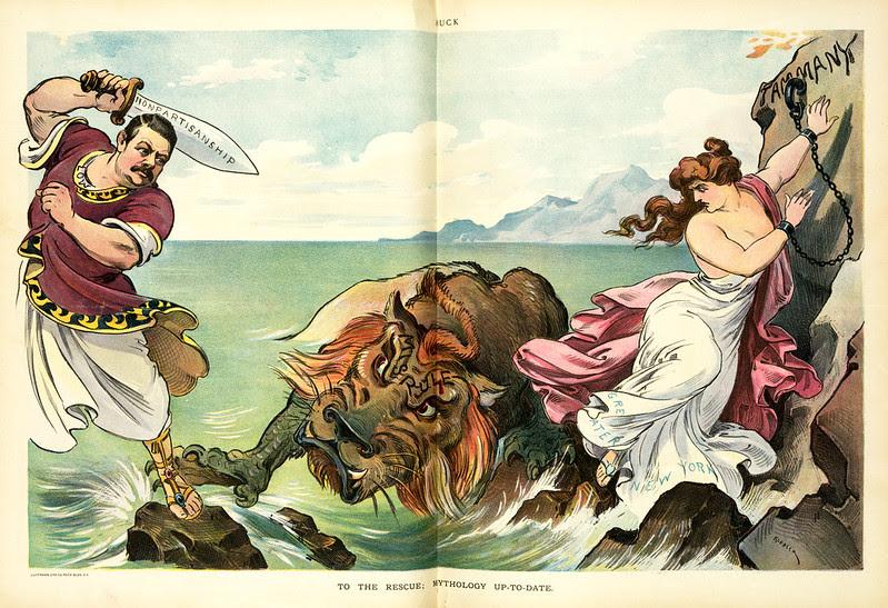 Udo J. Keppler - Illustration in Puck, v. 50, no. 1287 (1901 October 30), centerfold