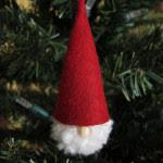 Addobbo natalizio in feltro con pom pom Tutorial