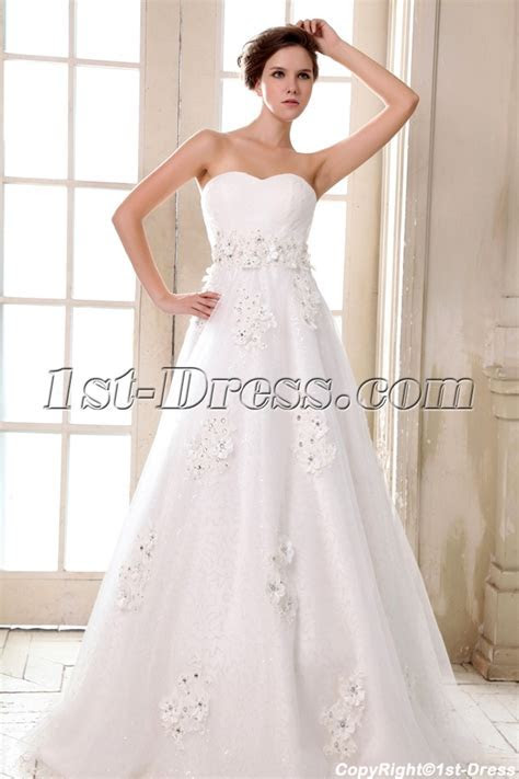 Romantic Sweetheart Empire Plus Size Wedding Dresses