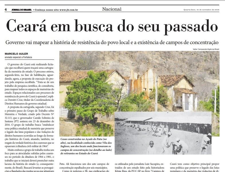 a4b26bc8c Política desmistificada  Ceará quer resgatar o seu passado de opressão