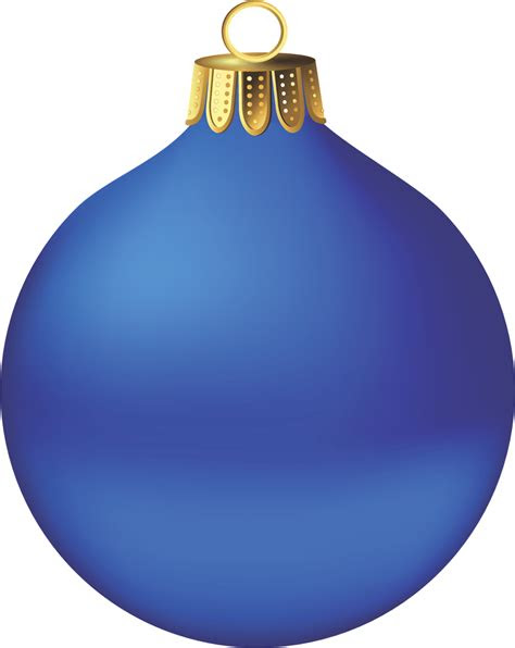 blue christmas ornament png  min