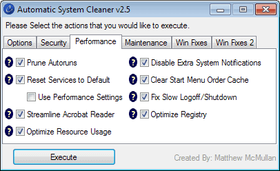Automatic System Cleaner