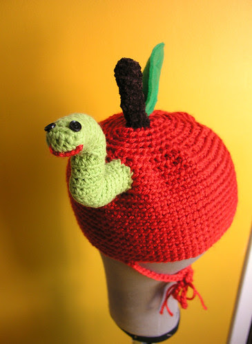 wormy apple hat