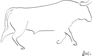 Toro Torero Y Afición Un Dibujo