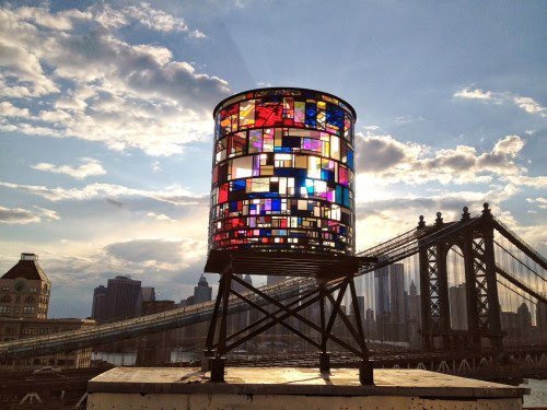 stunningpicture:  Stained glass water tower in Brooklyn