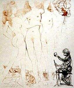 El juicio de Paris, Dalí. 1960 aprox.