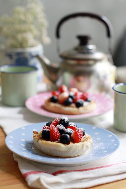 Fruity English Muffin Breakfast