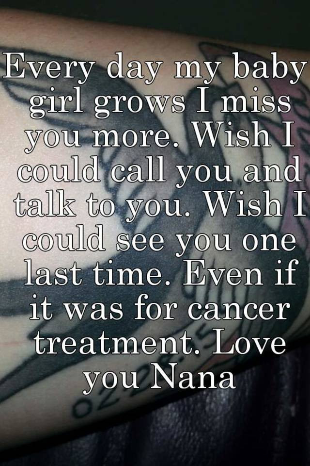 Every Day My Baby Girl Grows I Miss You More Wish I Could Call You