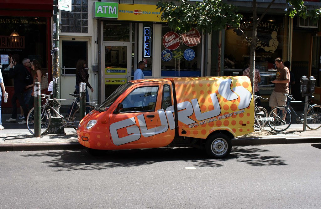What's up with energy drinks and weird promotional vehicles?
