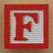Educational Brick Letter F