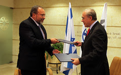 FM Liberman signs agreement with OECD Secretary General Gurría 19Jan10