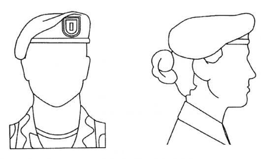 Boinas Verdes Dibujo De Boina Militar Para Hombre Y Para Mujer Para