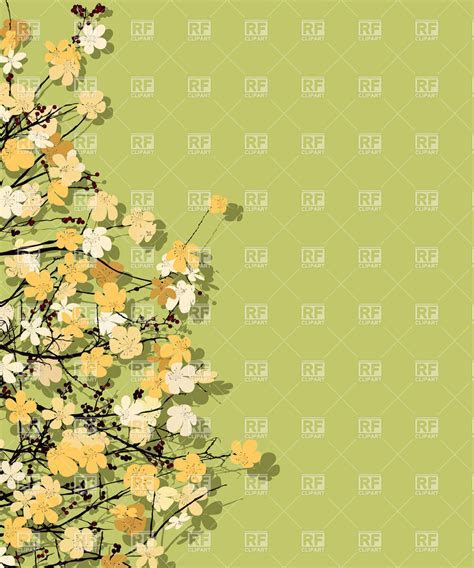 Spring time theme postcard, floral background Vector Image
