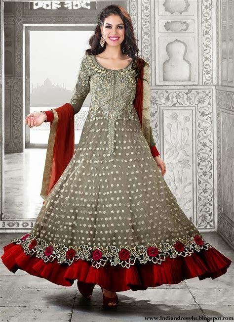 Long Designer Wedding Anarkali Dresses 2014   Beautiful