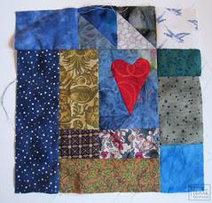 strip challenge :: blue heart block :: remsesøm