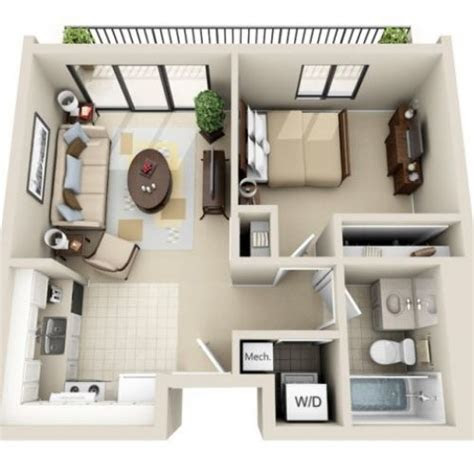 floor plan image     bedroom studio floor plan