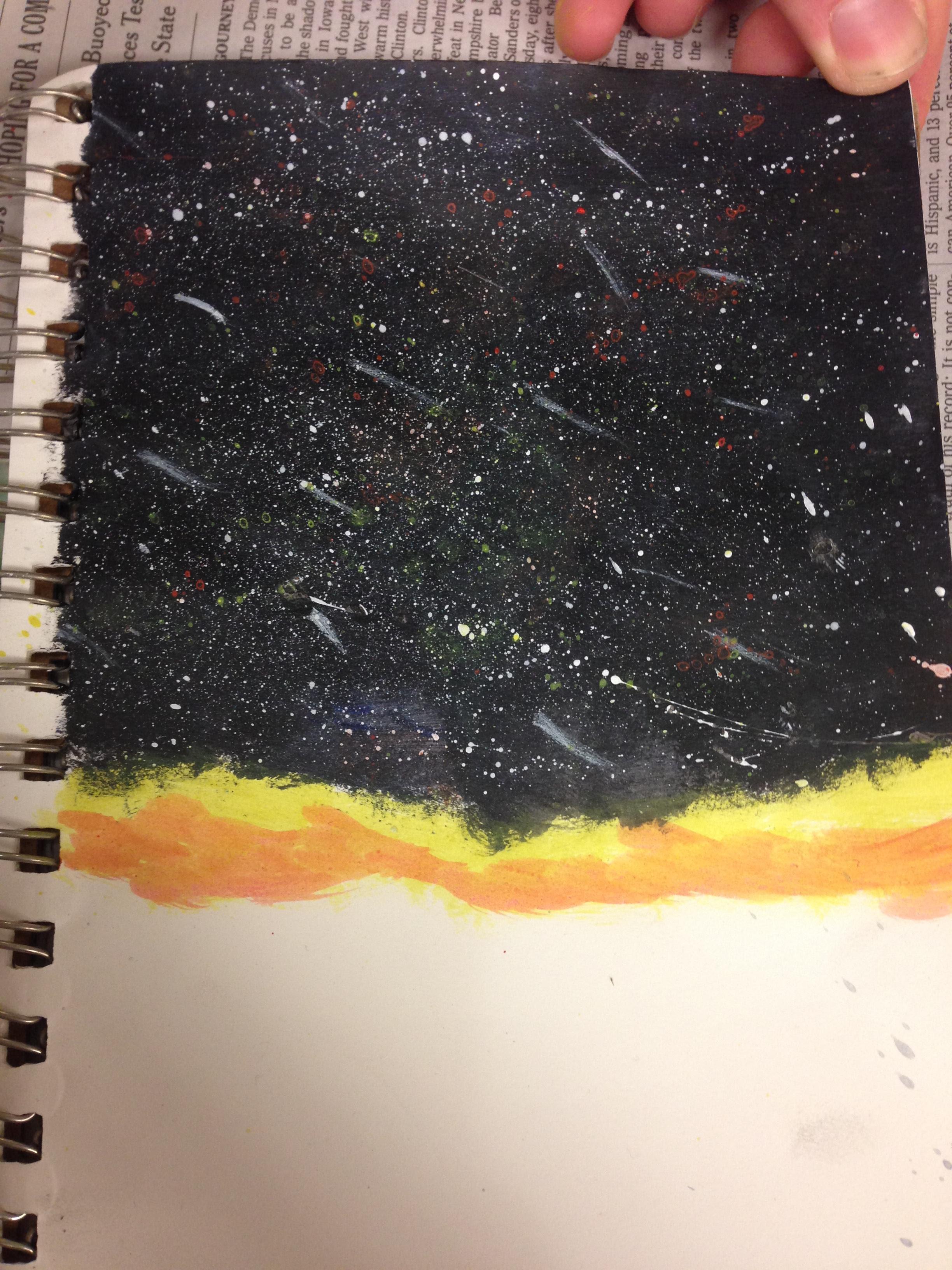 A Night Sky Silhouette Acrylic My Passion Blog