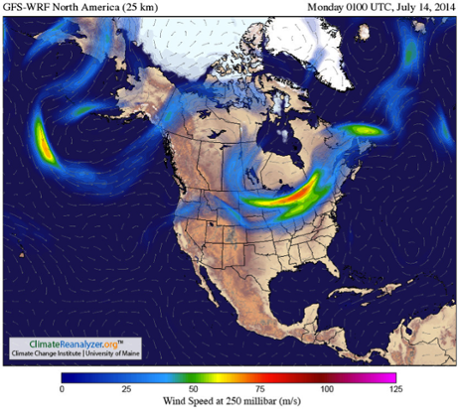 Image obtained using Climate Reanalyzer (http://cci-reanalyzer.org), Climate Change Institute, University of Maine, USA.