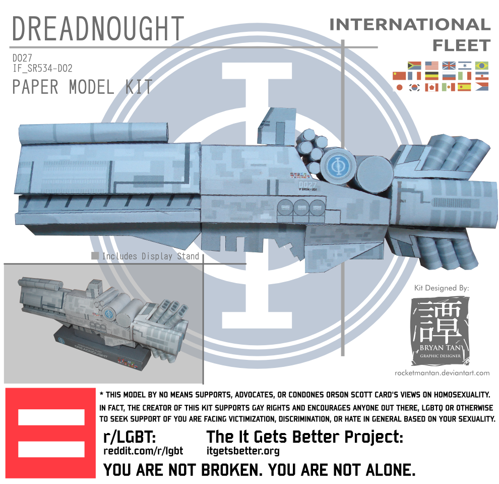Ender's Game Papercraft Dreadnought