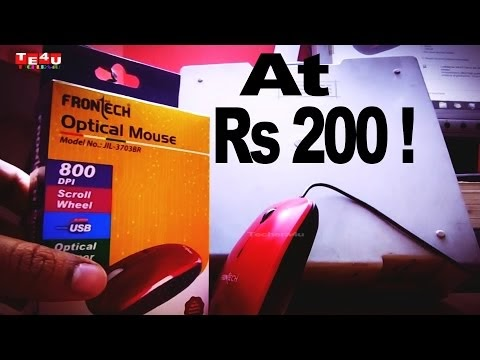Tech Under $5 - Cheapest Mouse Ever! At Just Rs 200 | Frontech Jil 3703BR [Unboxing] | Hindi
