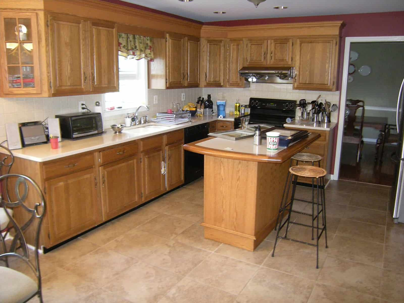 Oak Kitchen Cabinets Before and After