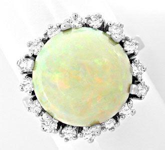 Foto 1, Neu! Brillant-Ring Traum-Riesen-Opal!! Weissgold Luxus!, S8712