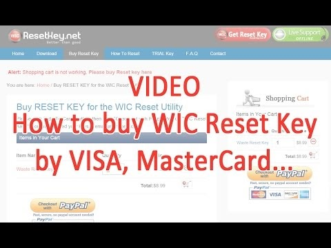 Waste Ink Pads Counter Overflow Reset: Video how to buy WIC Reset