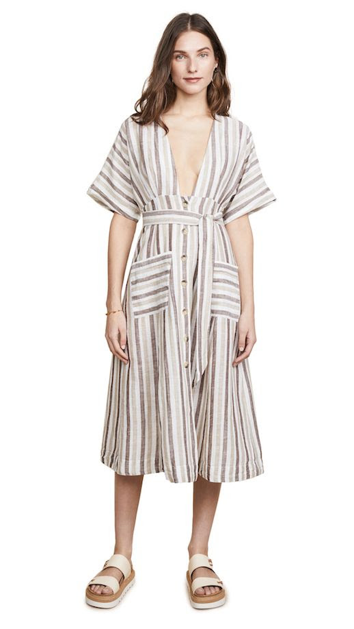 Le Fashion Blog The Best Spring Summer Pieces To Shop On Shopbop Striped Midi Dress Via Shopbop