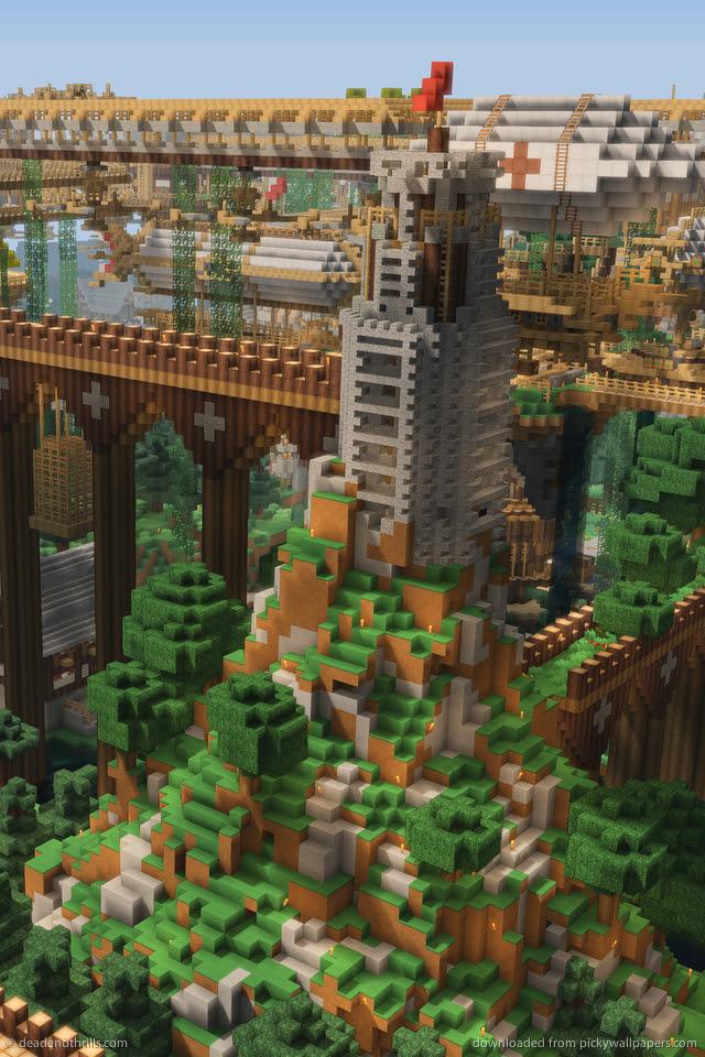 25 Incredible Minecraft iPhone 5 Wallpapers - InfiniGEEK