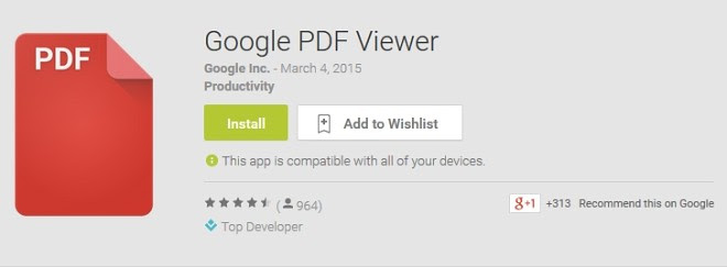 Google launched a dedicated PDF viewer on Android