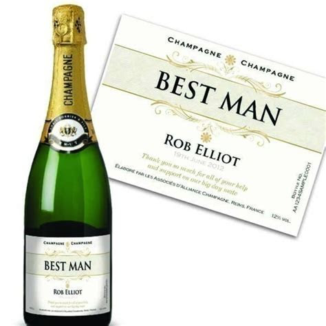 Best Man Personalised Champagne   The Personalised Gift Shop