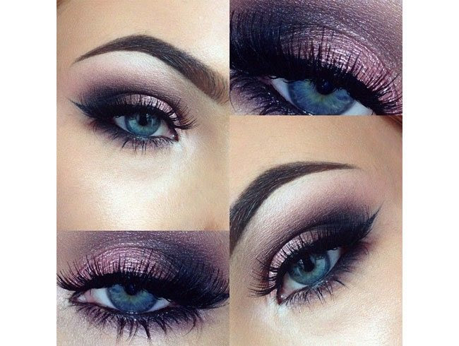 Best makeup looks for blue eyes