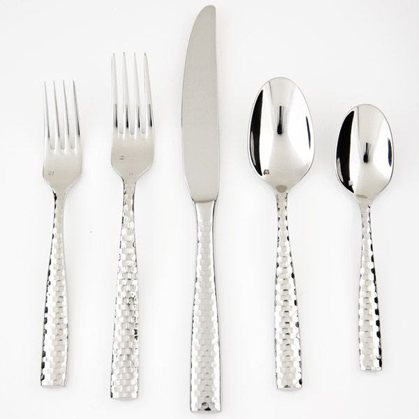 Fortessa Lucca Faceted - Stainless Flatware for Less at Silver