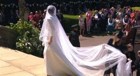 Meghan Markle wedding dress: First look at bride's