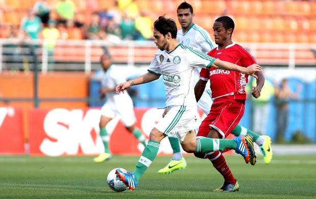Valdívia jogo Palmeiras contra América-RN (Foto: Marcos Bezerra / Ag. Estado)