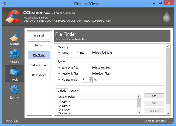 إصدار جديد من برنامج سى كلينر لتنظيف جهازك بتحسينات مميزة CCleaner 4.01