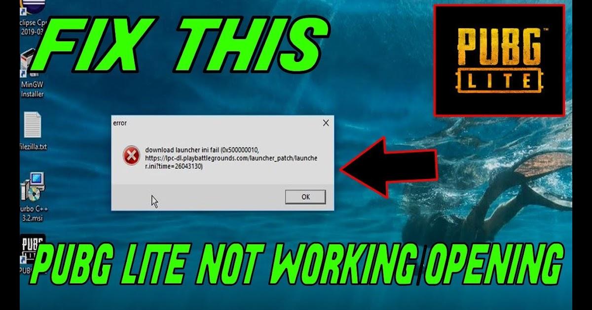 pubg pc lite download launcher fail 0x50000003 error fix