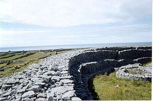 Stone ringfort on the island of Inishmaan, Ara...