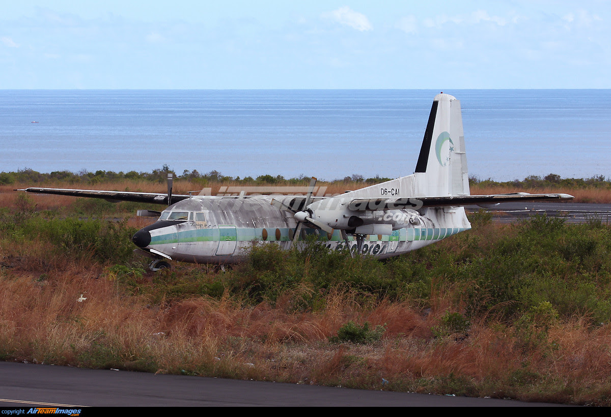The remains of Air Comores lone F27 in Moroni