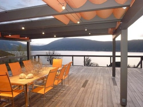 From where was this modern pergola with the retractable shades ...