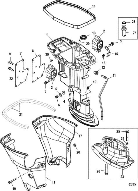 Mercury Marine 15 HP (4-Stroke) Driveshaft Housing Parts