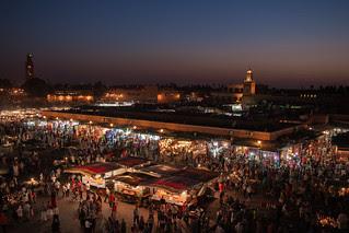 Place Jemaa el-Fna - Marrakech - Morocco - Mar...