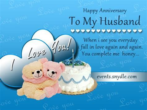 Wedding Anniversary Cards for Husband di`light   Wedding