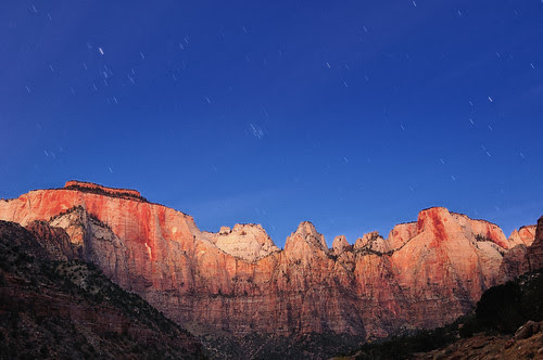 Towers of the Virgin Pre-dawn, Zion National Park, Utah by andrew c mace