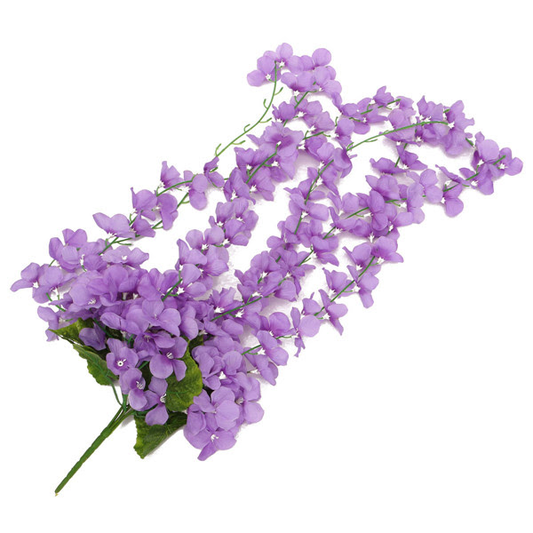 Artificial Flower Hanging Orchid Plants Leaves Bunch