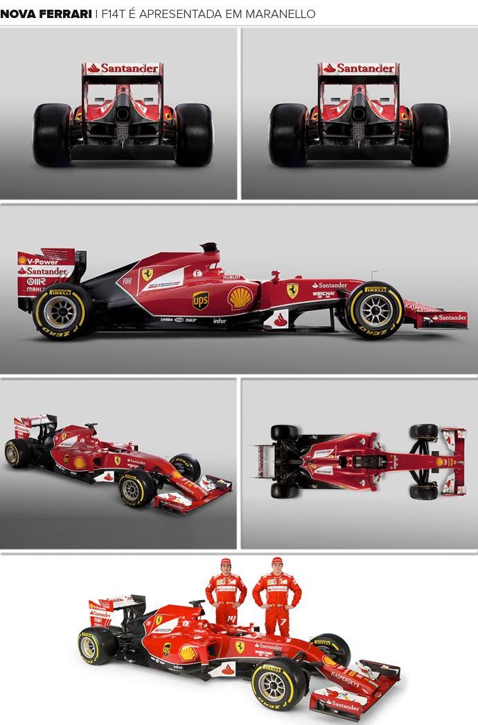 Mosaico Nova Ferrari (Foto: Divulgação/Site Oficial da Ferrari)